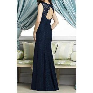 Midnight Lace Formal Gown from Dessy - size 6